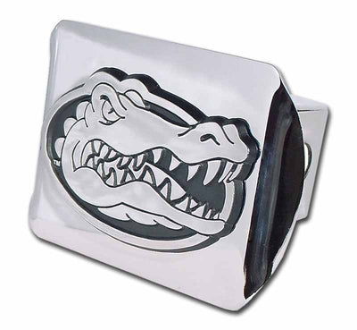 University of Florida Gator Head Shiny Chrome Hitch Cover