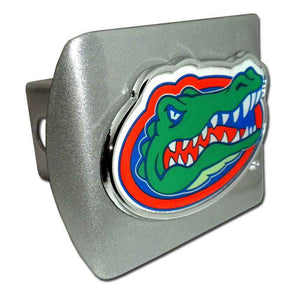 University of Florida Gator Head with Color Brushed Chrome Hitch Cover