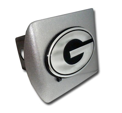 University of Georgia G Brushed Chrome Hitch Cover