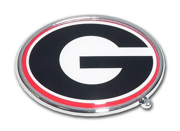 University of Georgia Chrome and Color Car Emblem