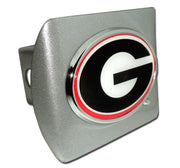 University of Georgia G with Color Brushed Chrome Hitch Cover