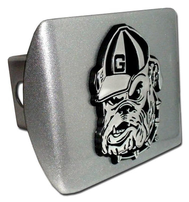 University of Georgia Bulldog Brushed Chrome Hitch Cover