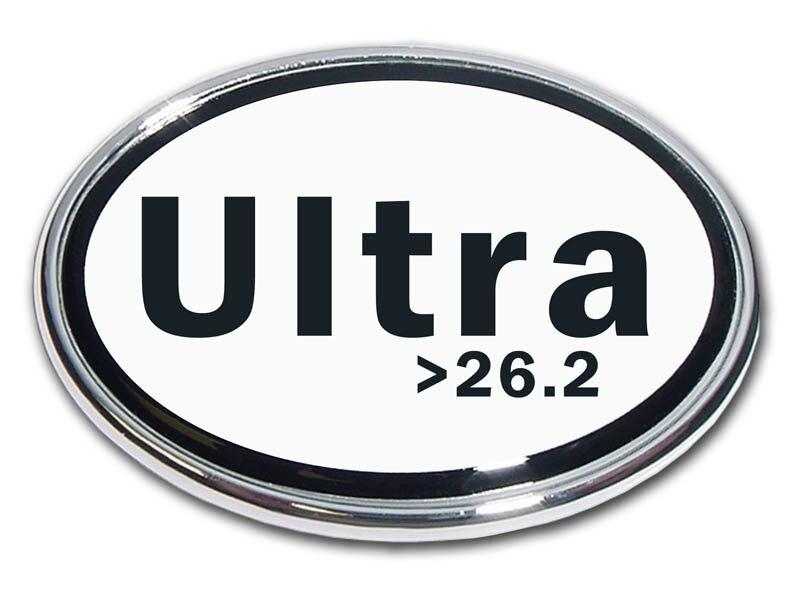 26.2 Ultra Marathon Chrome Car Emblem