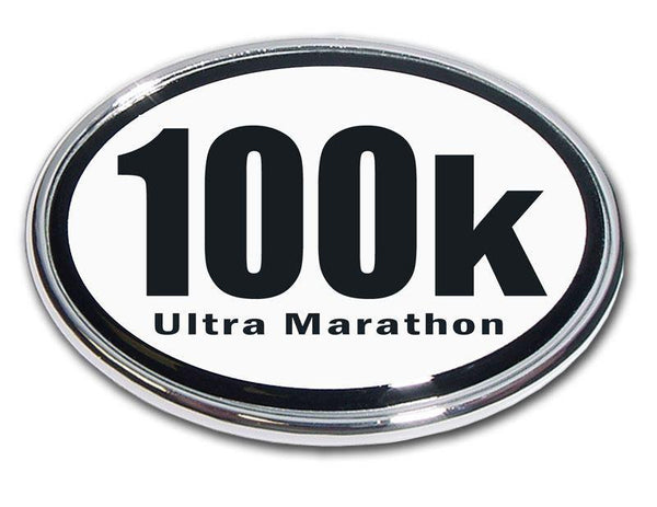 100K Ultra Marathon Chrome Car Emblem