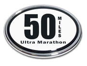 50 Miles Ultra Marathon Chrome Car Emblem