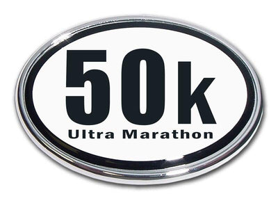 50K Ultra Marathon Chrome Car Emblem