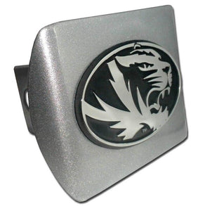 University of Missouri Brushed Chrome Hitch Cover