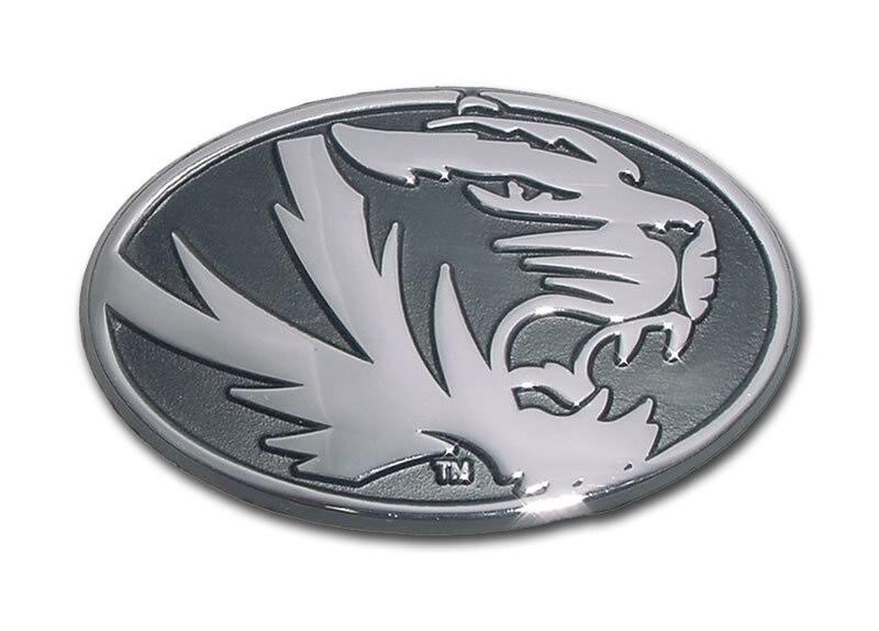 University of Missouri Tiger Chrome Car Emblem