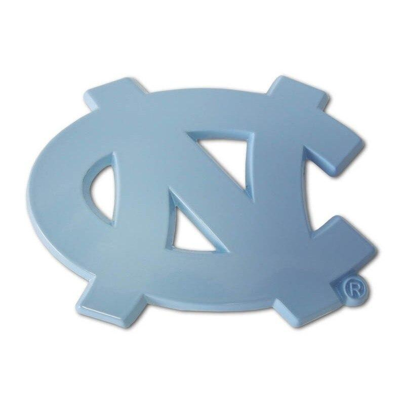 University of North Carolina Blue Color Car Emblem - Chrome Car Emblems | Trailer Hitch Covers/Collegiate Car Emblems/North Carolina University - I AmEricas Flags
