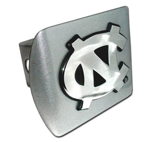 University of North Carolina NC Brushed Chrome Hitch Cover
