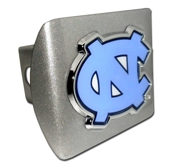 University of North Carolina Color NC Brushed Chrome Hitch Cover