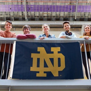 University of Notre Dame ND 3x5 Deluxe Flag Live