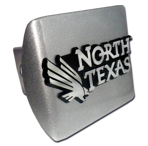 University of North Texas Brushed Chrome Hitch Cover