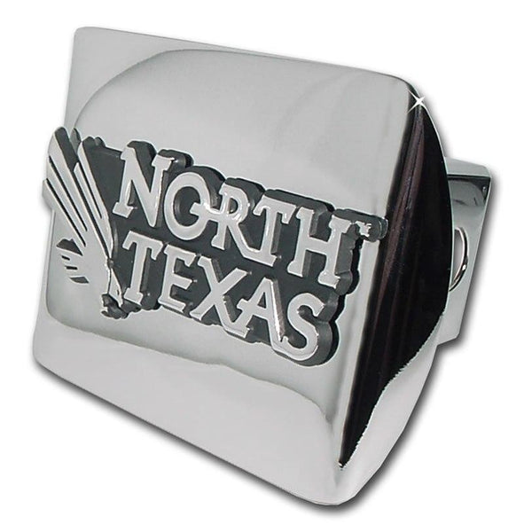 University of North Texas Shiny Chrome Hitch Cover