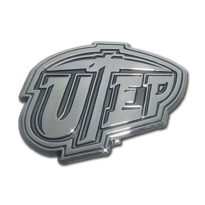 University of Texas El Paso Chrome Car Emblem