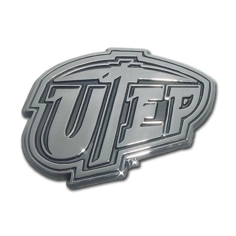 University of Texas El Paso Chrome Car Emblem - Chrome Car Emblems | Trailer Hitch Covers/Collegiate Car Emblems/University of Texas El Paso - I AmEricas Flags