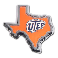 University of Texas El Paso State Shape Color Car Emblem