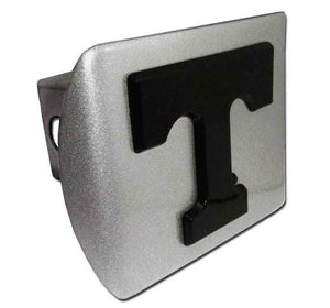 University of Tennessee Black T Brushed Chrome Hitch Cover