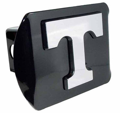 University of Tennessee Chrome T Black Hitch Cover
