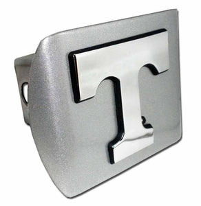University of Tennessee Chrome T Brushed Chrome Hitch Cover