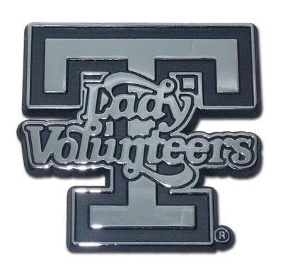 University of Tennessee Lady Volunteers Chrome Car Emblem