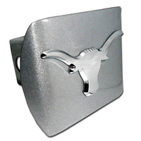 University of Texas Longhorn Brushed Chrome Hitch Cover
