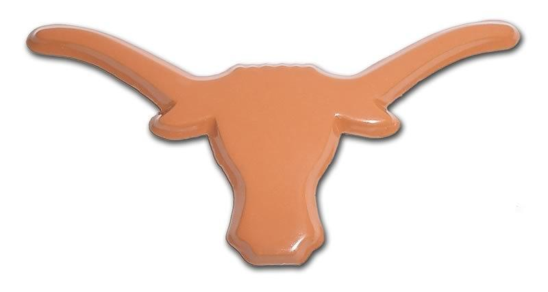 University of Texas Longhorn Orange Car Emblem - Chrome Car Emblems | Trailer Hitch Covers/Collegiate Car Emblems/University of Texas - I AmEricas Flags