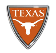 University of Texas Shield Chrome with Color Car Emblem