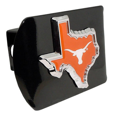 University of Texas Orange State Shape Black Hitch Cover