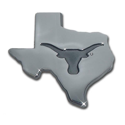 University of Texas State Shaped Chrome Car Emblem