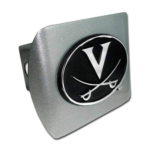 University of Virginia Brushed Chrome Hitch Cover - Chrome Car Emblems | Trailer Hitch Covers/Collegiate Car Emblems/University of Virginia - I AmEricas Flags
