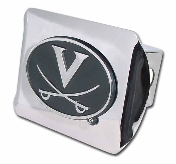 University of Virginia Shiny Chrome Hitch Cover