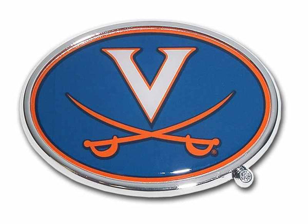 University of Virginia Chrome and Color Car Emblem