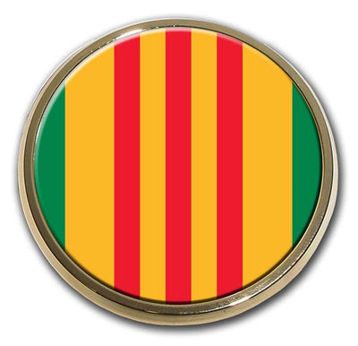 Vietnam Veteran Color Car Emblem