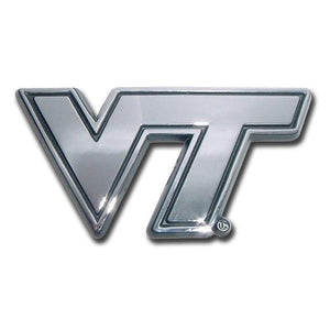 Virginia Tech University Chrome Car Emblem