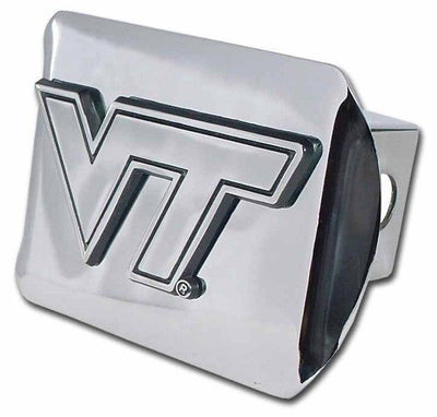 Virginia Tech University Shiny Chrome Hitch Cover