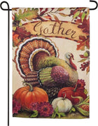 Warm Gathering Turkey Suede Reflections Garden Flag