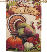 Warm Gathering Turkey Suede Reflections House Flag