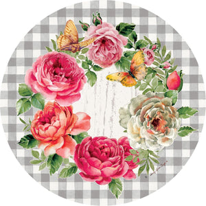 Welcome Rose Wreath Accent Magnet
