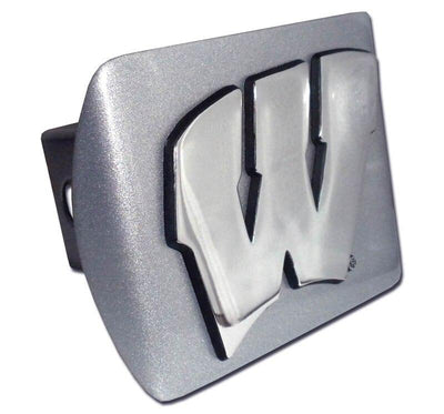 University of Wisconsin Brushed Chrome Hitch Cover