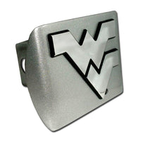 West Virginia University Brushed Chrome Hitch Cover