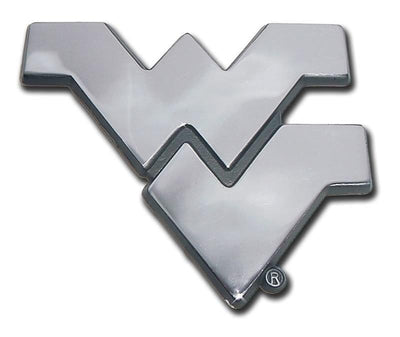 West Virginia University Chrome Car Emblem