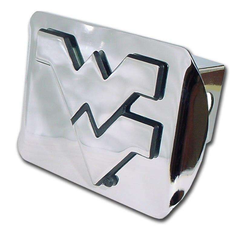 West Virginia University Shiny Chrome Hitch Cover
