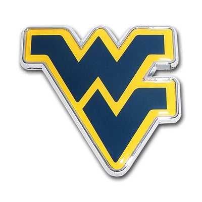 West Virginia University Navy Chrome and Color Car Emblem
