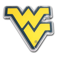 West Virginia University Yellow Chrome and Color Car Emblem