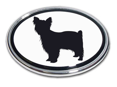 Yorkie Chrome Car Emblem