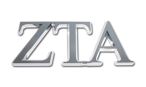Zeta Tau Alpha Sorority Chrome Car Emblem