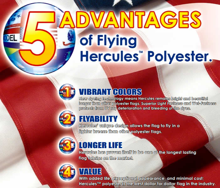 Hercules Polyester American Flags