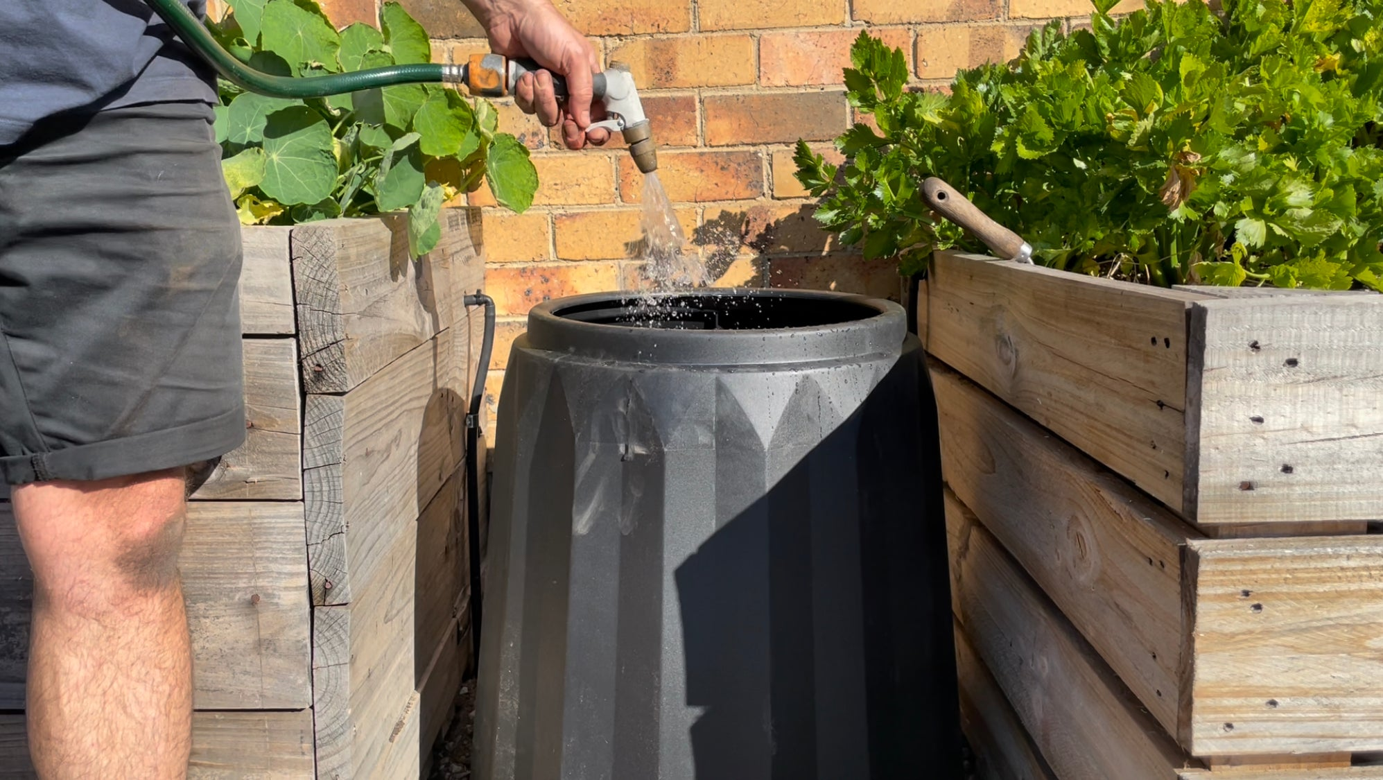 add water to your compost to keep it moist