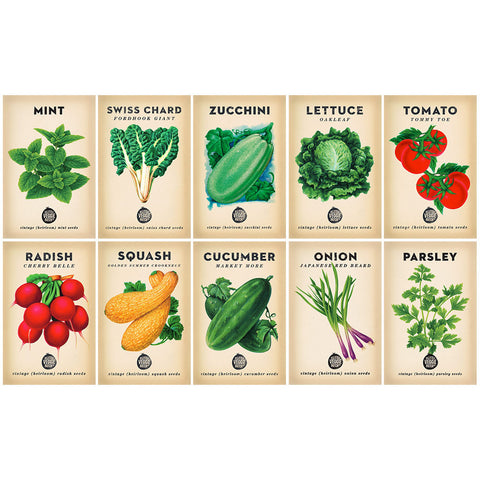 Beginner Veggie Heirloom Seed Bundle